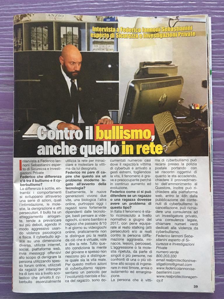 Intervista a Federico Iannoni Sebastianini su mensile VIP PARTY su tematica #cyberbullismo (2)