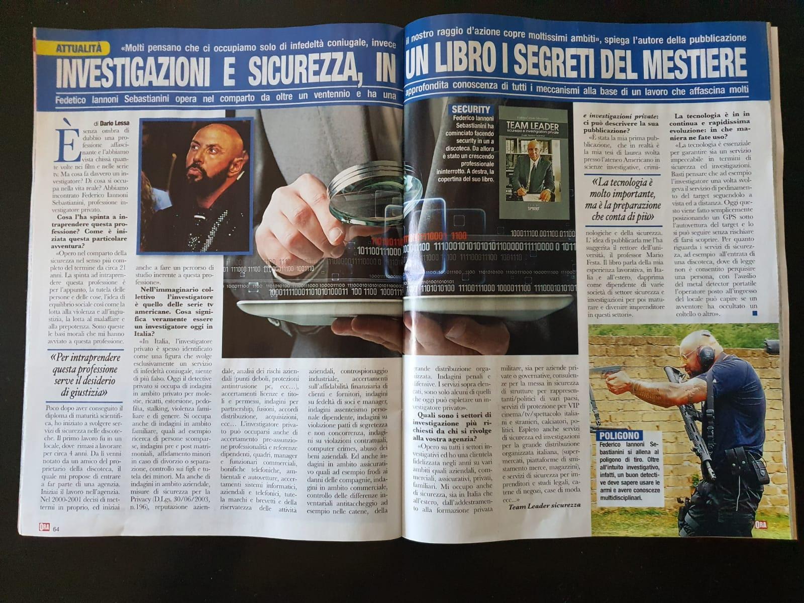 Intervista a #FedericoIannoniSebastianini su settimanale ORA (2)