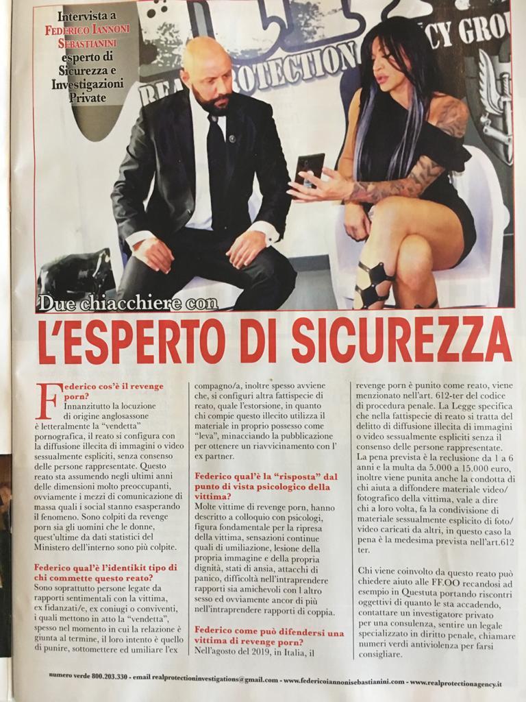 Intervista a #FedericoIannoniSebastianini su settimanale VOI tematica #revengeporn (2)