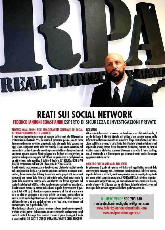 Intervista in anteprima, in uscita prevista per il 28 Ottobre, su settimanale VOI, tematica trattata Resti su Social Network