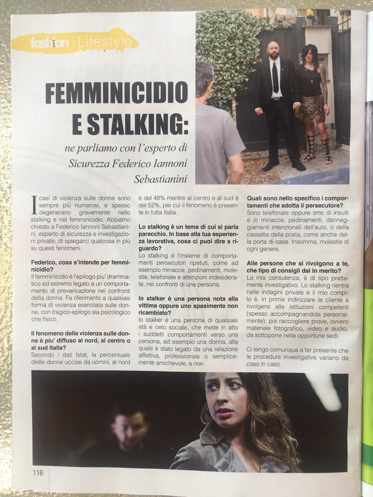 Intervista su mensile Fashion su tematiche #femminicidio e #stalking (2)