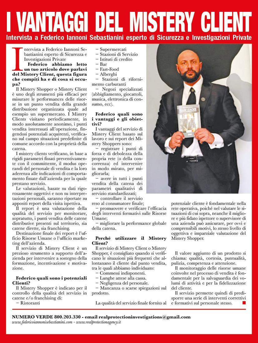 Intervista su settimanale ORA tematica #MisteryClient #MysteryShopper (2)