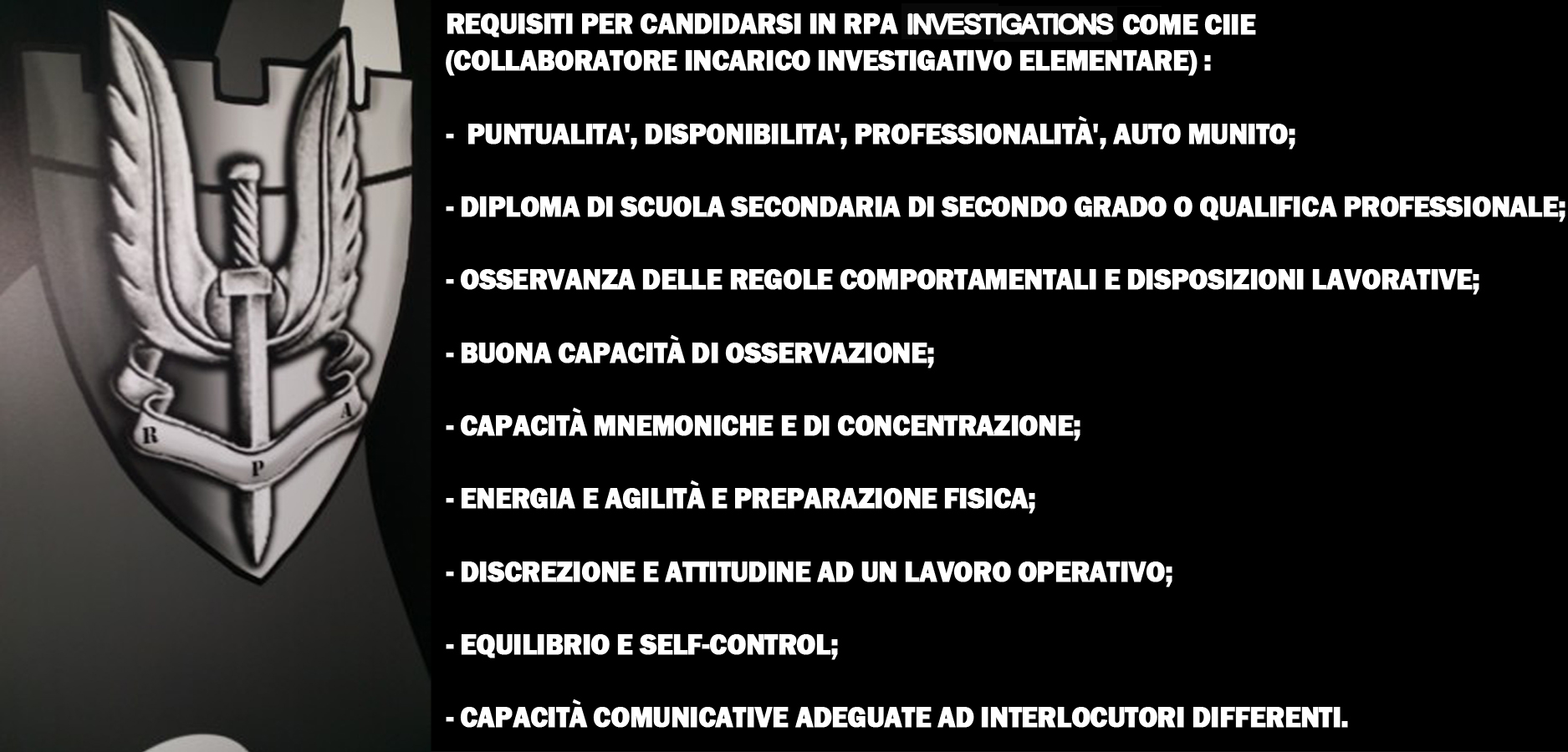 Lavora Con Noi Real Protection Agency Investigations S R L